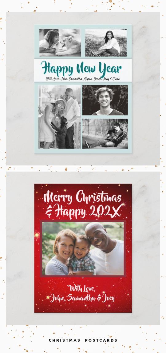 Christmas photo postcards