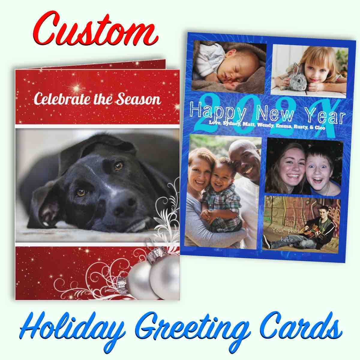 Christmas cards ad block